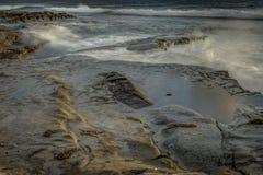 San Diego California Coastline in Spring. Sunset in La Jolla California USA royalty free stock photo