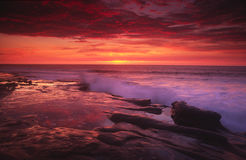 Sunset at La Jolla Cove in San Diego Stock Image