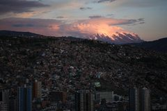 Sunset in  La Paz Stock Photography