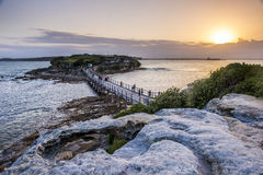 Sunset from La perouse in Sydney. Stock Images