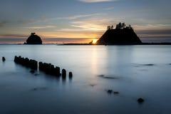 Sunset at La Push, Washington. Royalty Free Stock Photography