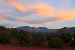 Sunset in the La Sal mountains. Royalty Free Stock Photos