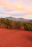 Sunset in the La Sal mountains. Stock Image
