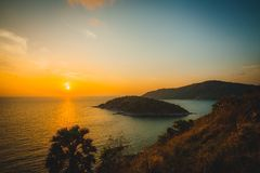 Sunset at Laem Phrom Thep. Phuket,Thailand royalty free stock image