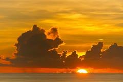Sunset. On the Laem Phrom Thep Phuket , Thailand Royalty Free Stock Photos