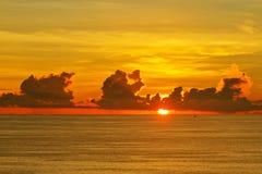 Sunset. On the Laem Phrom Thep Phuket , Thailand Royalty Free Stock Photo