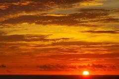 Sunset. On the Laem Phrom Thep Phuket , Thailand Royalty Free Stock Photography