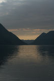 Sunset by Lago di Lugano Italy Stock Photos