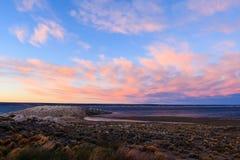 Sunset on Lago Strobel stock image