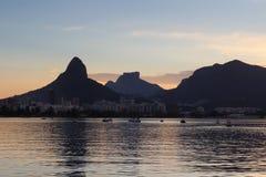Sunset Lagoon (Lagoa) catamarans, Rio de Janeiro Stock Photography