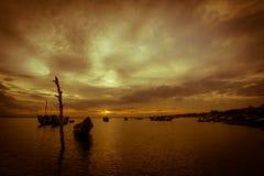Sunset on lagoon Stock Photo