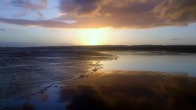 Sunset at Lahinch beach, County Clare, Ireland Royalty Free Stock Photography