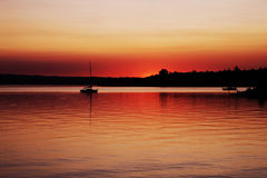 Sunset at lake Royalty Free Stock Image
