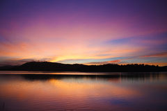 Sunset at a lake Royalty Free Stock Images
