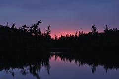 Sunset on Lake. A Beautiful Sunset on Lake Stock Photo