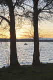 Sunset at the Lake Royalty Free Stock Photos