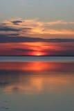 Sunset on lake Stock Photos