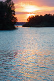 Sunset and lake. Royalty Free Stock Photography