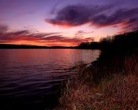 Sunset at Lake 33. Cloudy sunset across Lake 33 at Busch Wildlife Royalty Free Stock Photo