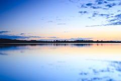 Sunset at lake Royalty Free Stock Photo