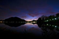 Sunset at lake Stock Photography