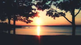 Sunset. On the lake Royalty Free Stock Images