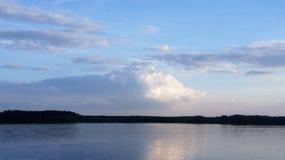 Sunset and Lake stock photo