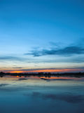 After sunset by the lake. Summer landscape royalty free stock image