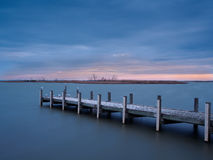 Sunset at Lake Alexandrina, Milang Stock Photo