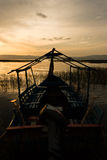 Sunset in Lake Awassa, Ethiopia. Stock Photos