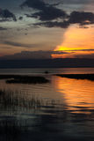 Sunset in Lake Awassa, Ethiopia. Stock Photography