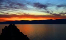 Sunset. Lake Baikal. Stock Image