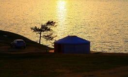 Sunset. Lake Baikal. Stock Photos