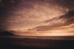 Sunset on Baikal stock image