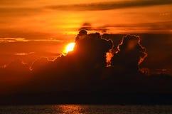Sunset on lake Baikal Royalty Free Stock Photos
