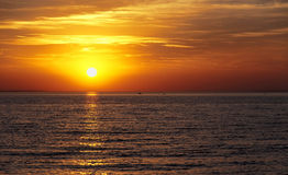 Sunset at Lake Balaton Stock Image