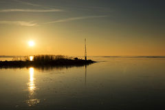 Sunset at Lake Balaton, Hungary Stock Images