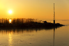 Sunset at Lake Balaton, Hungary Royalty Free Stock Photo