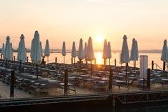Sunset on lake Balaton, Hungary Royalty Free Stock Images
