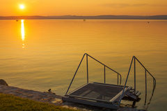 Sunset at Lake Balaton Stock Images