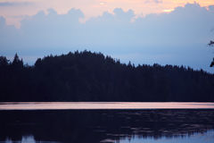 Sunset at lake Royalty Free Stock Photography