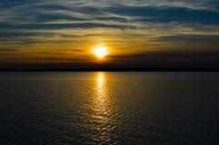 Sunset on the lake. Beautiful sunset on an Irish lake stock images