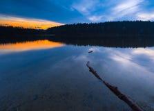 Sunset lake Stock Photos
