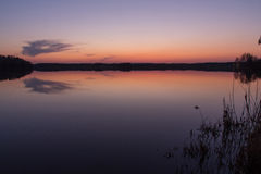 Sunset at the lake Royalty Free Stock Images