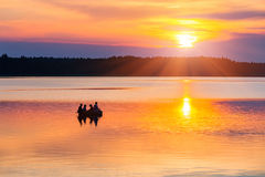 Sunset on a lake Stock Photography