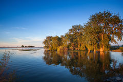 Sunset and lake Stock Image