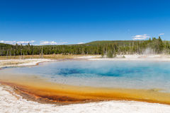 Sunset Lake at Black Sands Basin, Yellowstone National Park Stock Photo