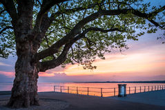 Sunset at lake Bodensee Royalty Free Stock Photos
