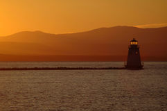 Sunset Lake Champlain Royalty Free Stock Photography