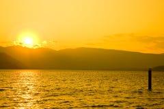 Sunset at Lake Chelan royalty free stock photos